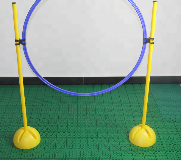 Outdoor Verstelbare Agility Horden Training Dribbelen Set Met Base Agility Pole En Clips