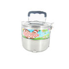 Stainless steel lunch box with olivary bubble gum or tattoo gum