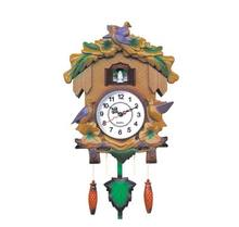 Plastic Cuckoo Clock Animal Sounds Wall Clock with Bird Come Out