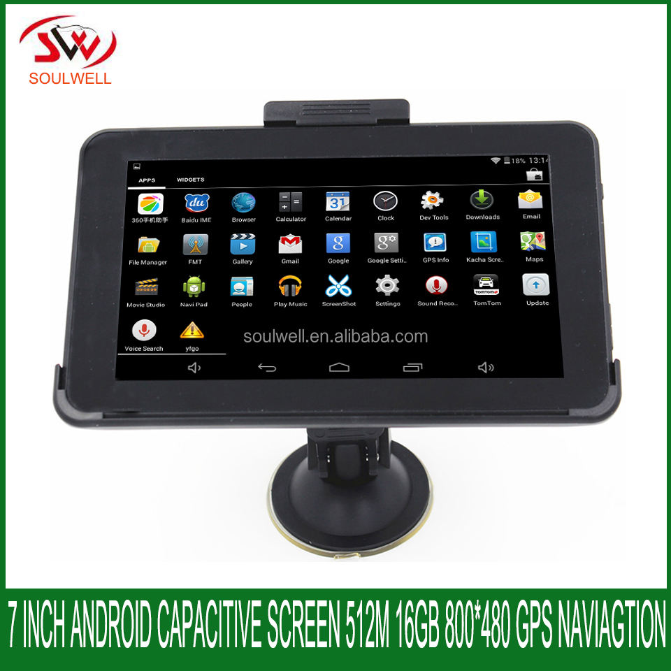 "7"" android4.4 capacitive car truck lorry gps navigator internal storage 16GB vehicle DDR512M navigation"