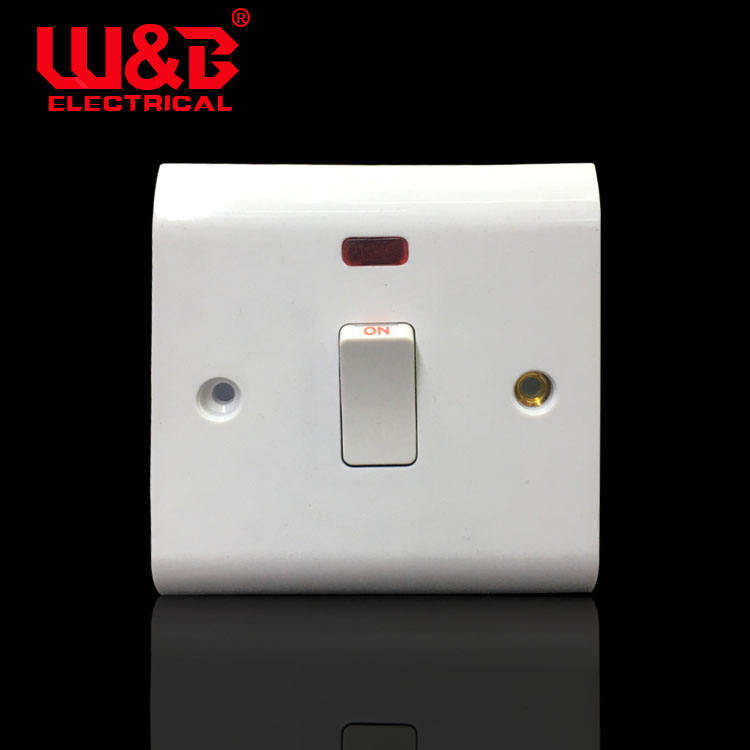 China New Products 20A With LED on/off Push Button Wall Light Electric Switch Socket