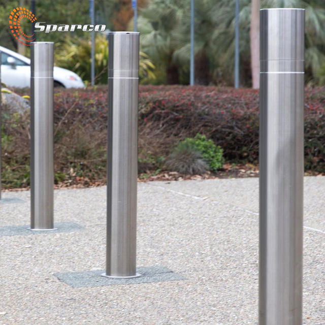 Sparco No rust polish finished stainless steel traffic security road barrier pole