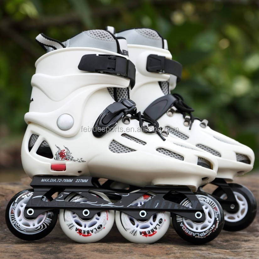 single row roller skates PU wheels shoes for adults kids