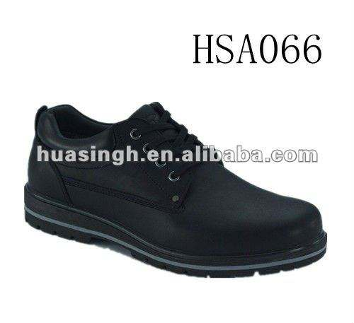 HB, 2012 new steel toe design genuine leather formal causual shoes