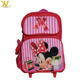 Minnie Mouse Roller Backpack School, Cute Pink Wheeled School Bag for Girls
