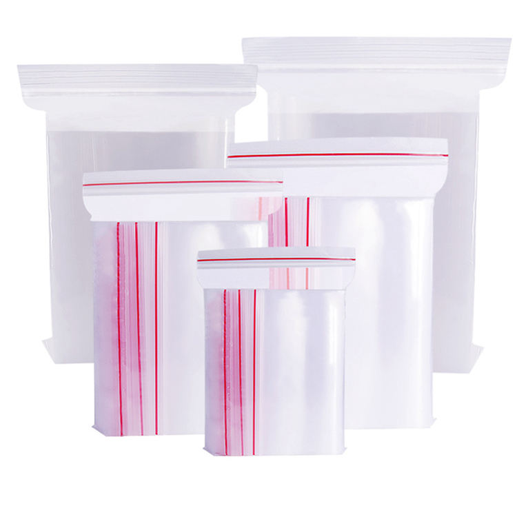 Eco-friendly LDPE Plastic Ziplock Customized Clear Packaging Bag For Garments, sachet plastique zip>