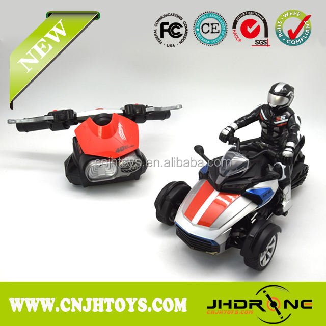 NEW 2.4G 1:8 Scale 4D Gravity Sensor RC Motorcycle Toy、RC制御Crazy Motorcycle光