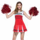 Ladies Sexy Varsity High School Cheer Girl Cheerleading Uniform Halloween Fancy Dress Costume