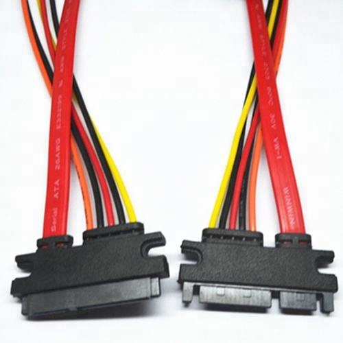 15 + 7 Pin SATA Serial ATA Kabel data Daya
