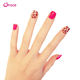 B12 red leopard print human finger nails for sell