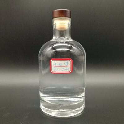 1 liter whisky win glass bottle frosted factory price