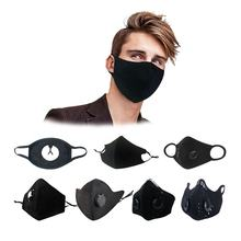 custom logo mouth anti odor smog haze reusable anti dust black cotton face mask