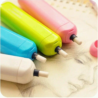 Funny Electric Eraser With 5 Refills Kawaii Rubber Erasers For School Supplies Promotional Gift Kids Stationery De Borrar