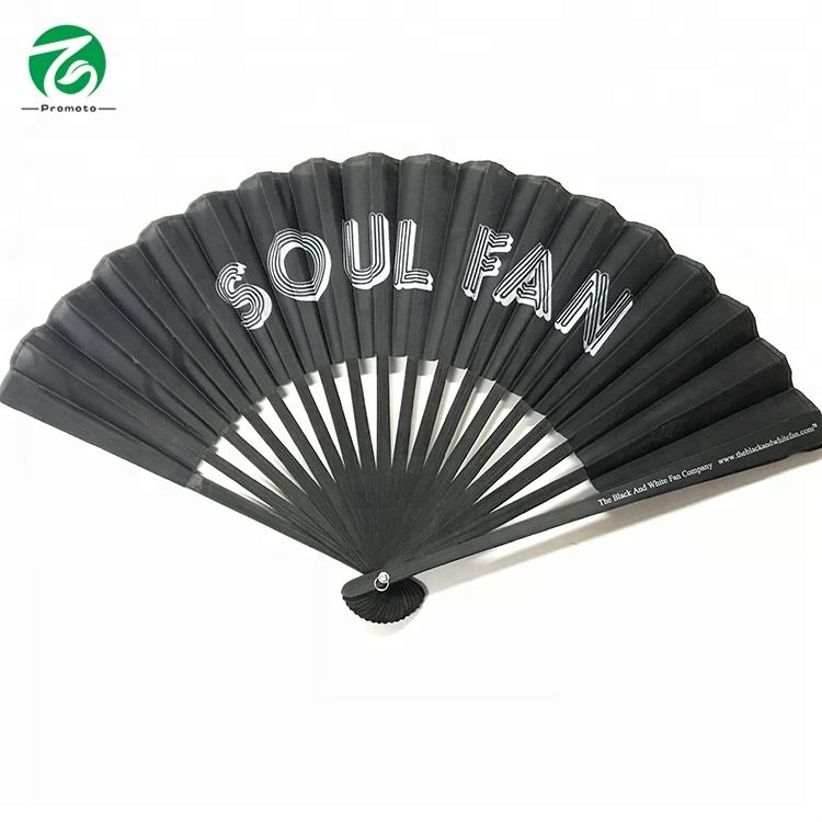 2020 cheap promotional traditional hand paper folding fan bamboo fan customized