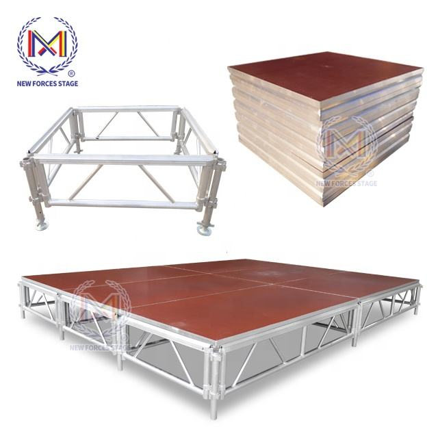 Aluminum Alloy 6061-T6 Portable Staging Systems Layer Outdoor Performance Stage