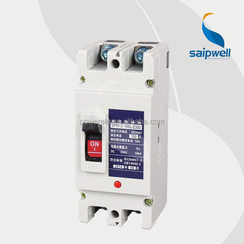 Saip/Saipwell Super Quality Moulded-Case standard circuit breaker ratings/ MCCB (SPM1Z-100L/2300)