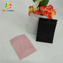 Custom printed blank pure aluminum foil packets three side seal mylar ziplock bags for cosmetic / food sample