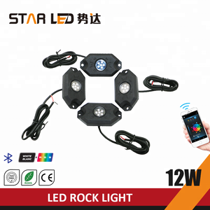 New Bluetooth Controlled Waterproof RGB LED Rock Light for Truck