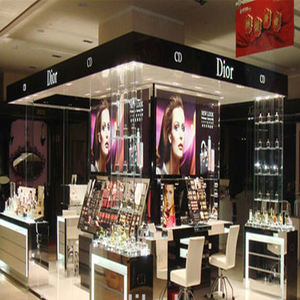 High-grade Dior cosmetic display kiosk and perfume display rack for shopping mall store furniture for cosmetics