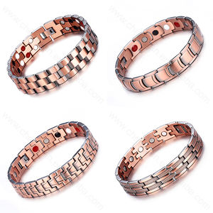 Hot sale arthritis bangle magnetic jewelry braided magnetic copper bracelet