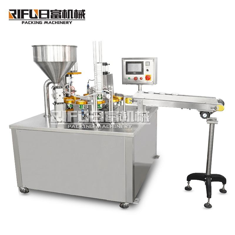 China supplier rotary cup filling sealing machine for oil,honey,cream,jelly,jam