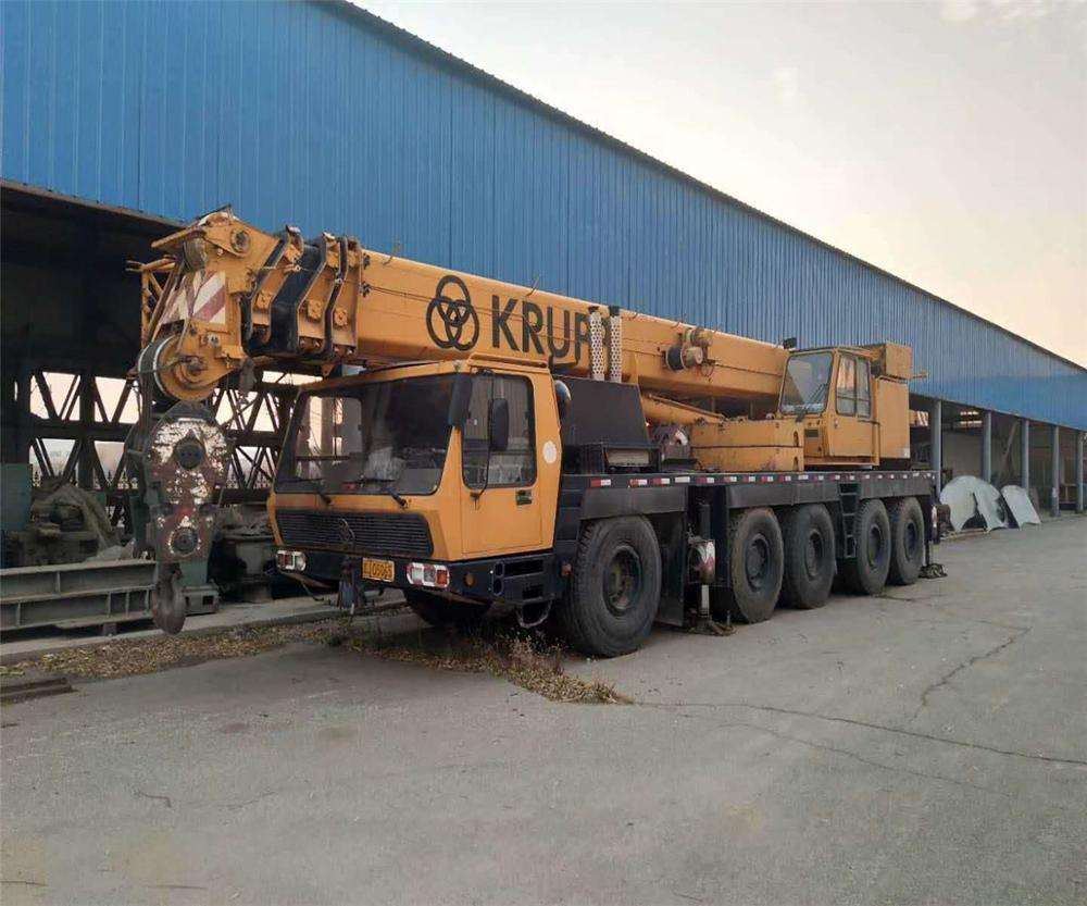 KRUPP 100T ALL TERRAIN CRANE USED CONDITION KRUPP 100T MOBILE CRANE