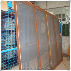 Screen Door Magnetic Latest Design Aluminium Profile Pleated Mesh Folding Screen Door Reinforced Magnetic Door Curtain Screen For Door Mesh Screen