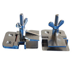 Stainless steel hinge clamp for screen printing industry