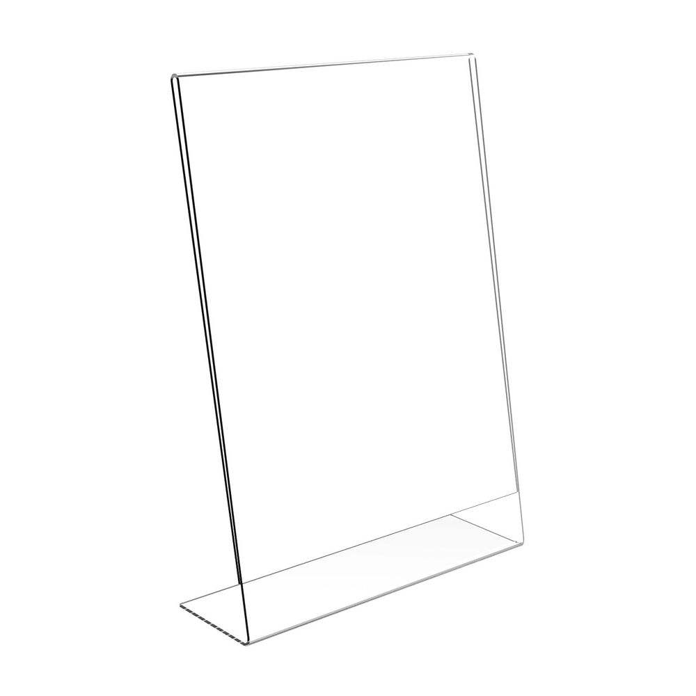Acrylic 8.5 x 11 Slanted Sign Holders with 6 packs