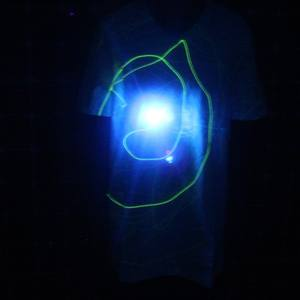New design glow t shirt for the party show