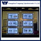 OEM super slim hanging acrylic crystal led light box, Real Estate Agency Wire Hanging LED Light Pockets LED Window Display