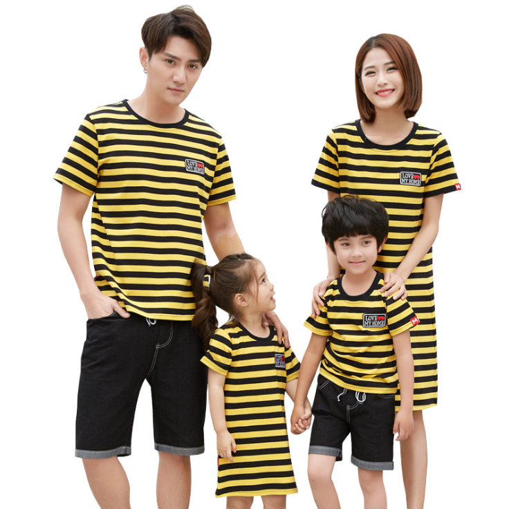 Wholesale Matching Clothing Summer Family Clothes Set