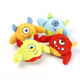 Toy Squeaky Plush Monster Dog Toy With Spiky TPR Ball Inside Pet Toy Felt Ball