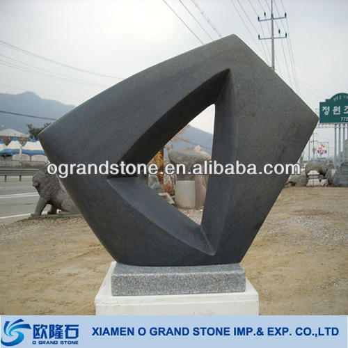 large outdoor modern abstract garden sculpture