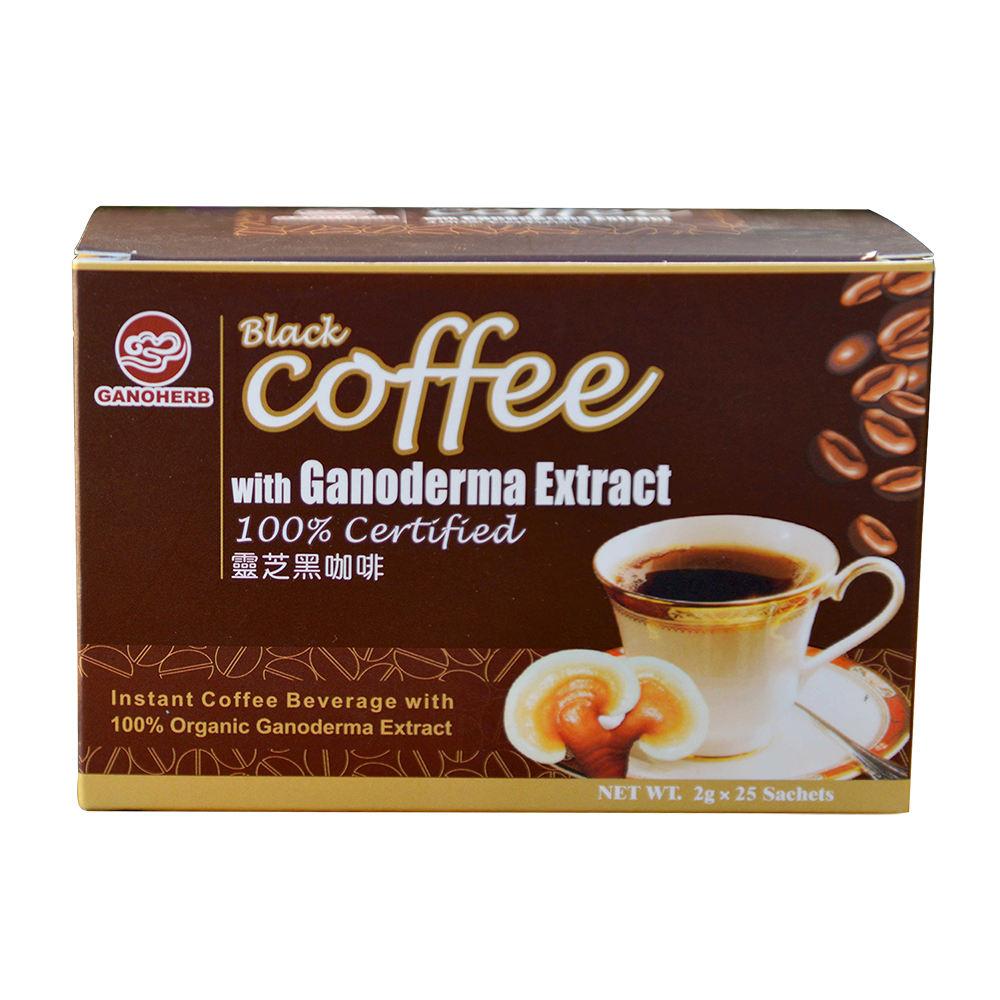 Ganoderma Reishi Mushroom Powder 2 in 1 Private Label Black White Wholesale Instant Coffee