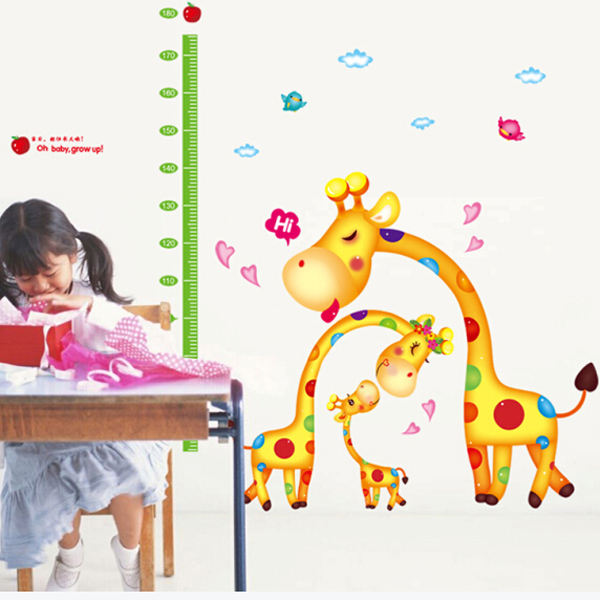 Fashion pvc height measurement wall sticker for kids room