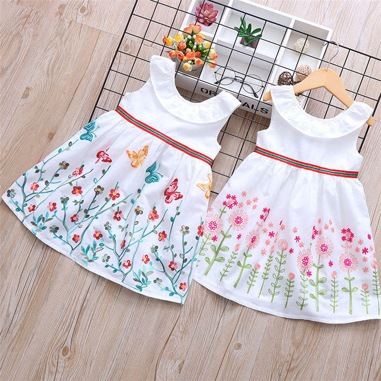 SD-979G one piece girls party dresses alibaba wedding dress kids cotton frocks design