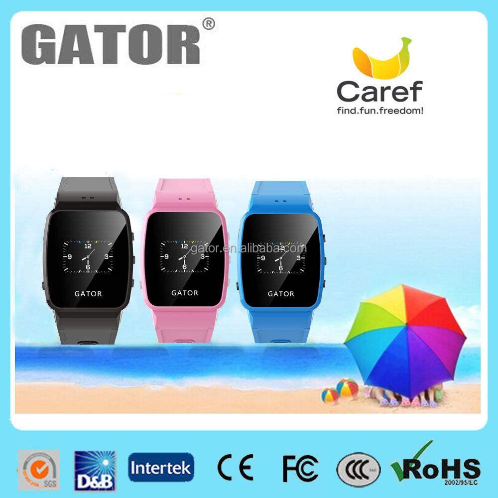 Длительный срок службы батареи gps gsm трекер дети gps часы-телефон-Gator Caref Часы