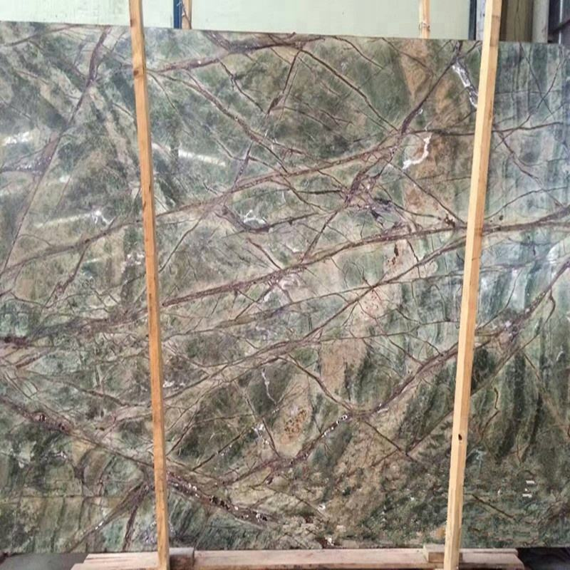 Rainforest green marble slab with competitive price