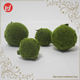New products christmas garden decorations artificial moss balls green fabric decorative moss