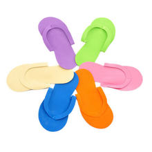 Disposable Foam Slippers High Quality Spa Pedicure Flip Flop Assorted Colors For Salon