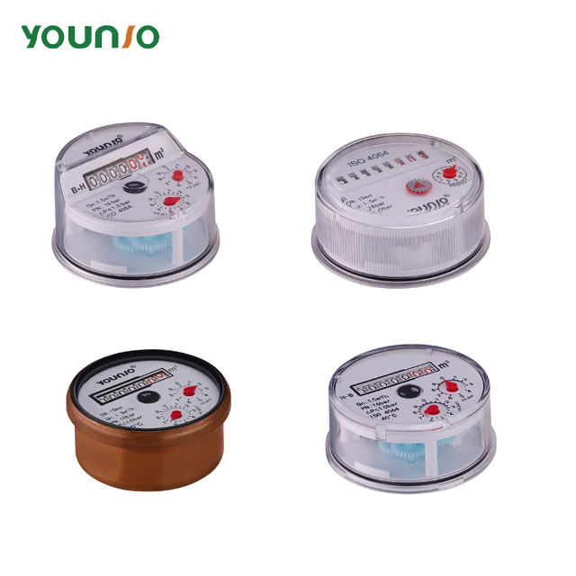 Younio single jet magnetic water meter counter