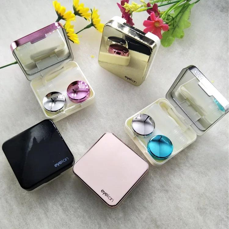 Wholesale FDA colorful eyewear accessories portable eyekan contact lenses cases