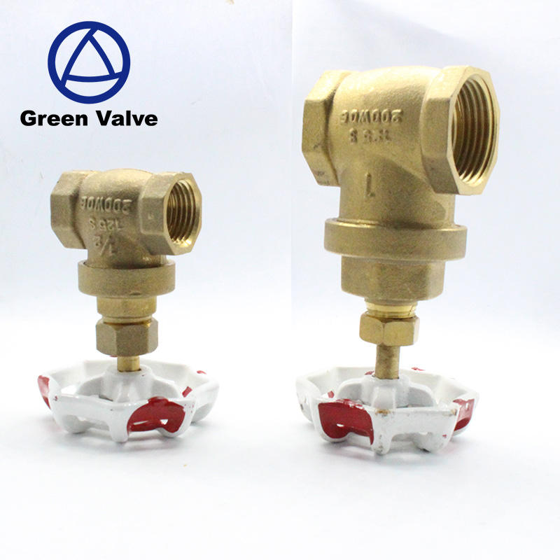 Green Guten-Top Hot Sale Manual Bronze Copper Brass Full Bore Gate Valve Price For Water With Drain