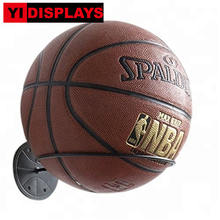 Metal wall mounted golf ball display rugby soccer ball display stand ball bearing holder