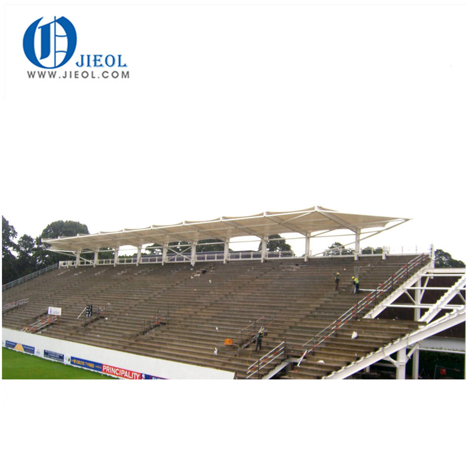 Ground play equipment Tension membrane curved roof structures