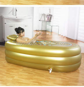 Hot Sale high quality gold spa tub inflatable bath tub for adult with backrest
