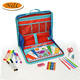 Trade assurance best selling products for kids fun travel drawing and sketch kit,easy to carry laptop style drawing kit
