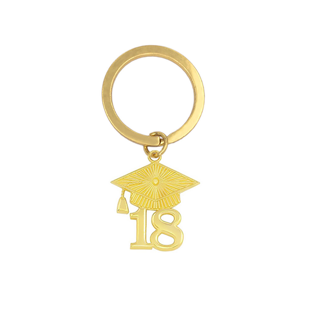 KEY004 Gold Plating Alloy Graduation 2018 Diploma Charms Key Chains & Keyrings Perfect Gifts For Students