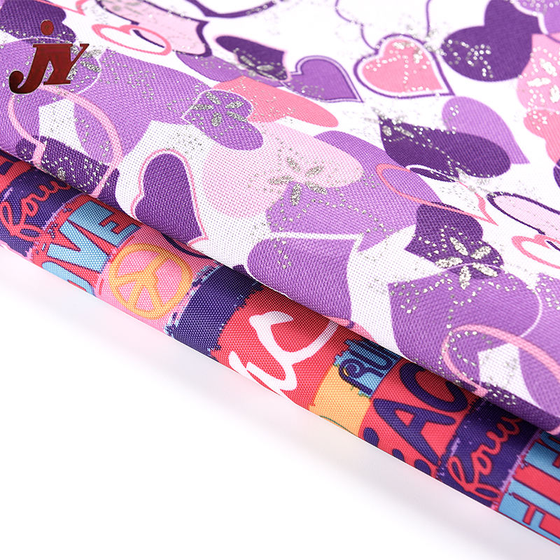 Hangzhou textile waterproof 100% polyester PVC coated printed oxford fabric for bag luggage tent